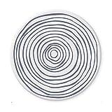 Funxim Keramik Untersetzer 6 Set mit Korkunterseite, Wasseraufnahme und Wärmeisolierung Getränkeuntersetzer für Tassen, Tisch, Bar, Glas, Vasen, Kerze - Nordeuropa Stil Dekorative Glasuntersetzer