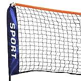 Top! Pennino regolabile in altezza Palla Badminton rete da badminton rete TENNIS RETE con clip in metallo e Tab e cavi Popamazing