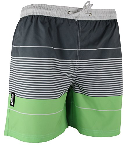 GUGGEN Mountain Maillot de Bain pour Homme de materiau High-Tech Slip Shorts Raye Print* Couleur Raye XXXXL