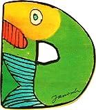 Janosch Holz Buchstaben 6cm (Buchstabe D)