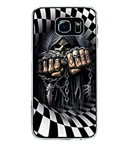ifasho Designer Phone Back Case Cover Samsung Galaxy S6 Edge+ :: Samsung Galaxy S6 Edge Plus :: Samsung Galaxy S6 Edge+ G928G :: Samsung Galaxy S6 Edge+ G928F G928T G928A G928I ( Black And Purple Colorful Pattern Design )