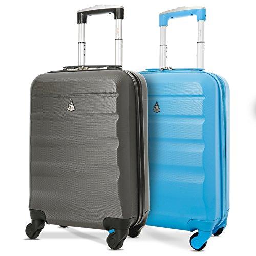 Aerolite ABS Bagage Cabine Bagage à Main Valise Rigide Légere à 4 Roulettes, Approuvées pour Ryanair Easyjet Air France Lufthansa Jet2 Monarch et Plus...