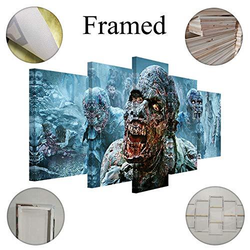 Fbhfbh Cuadro En Lienzo 5 Piezas Thriller Movie Zombie