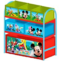 Delta Children's Products Multi Toy Organizer MICKEY MOUSE mit 6 Fächern und Metallgestell Aufbewahrungsboxen Spielzeugregal preisvergleich bei kinderzimmerdekopreise.eu