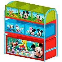 Preisvergleich für Delta Children's Products Multi Toy Organizer MICKEY MOUSE mit 6 Fächern und Metallgestell Aufbewahrungsboxen Spielzeugregal