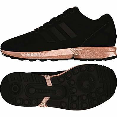 adidas Damen ZX Flux Laufschuhe, Schwarz Core Black/Copper
