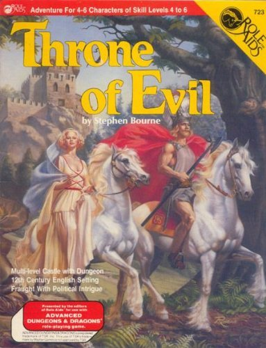 Throne of Evil (Role Aids / Advanced Dungeons & Dragons) by Stephen Bourne (1984-08-02) par Stephen Bourne