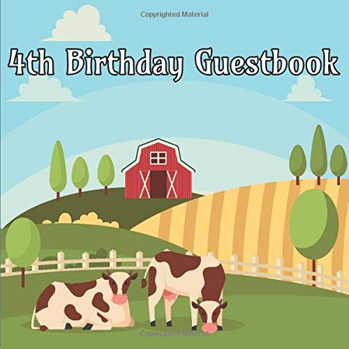 ok: Farm Animals Birthday Party Guest Book Party Celebration Log for Signing and Leaving Special Messages ()