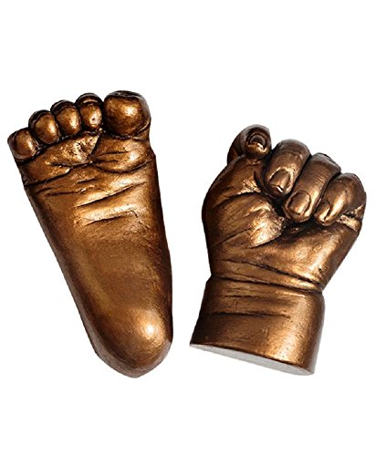 My Impression Studio Newborn 3D Hands And Feet Casting Kit With Metallic Bronze Paint