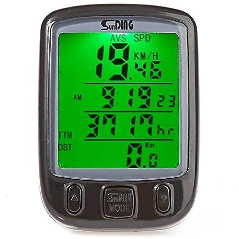Ordinateur vélo vélo écran rétro-éclairé LCD Odomètre imperméable vitesse