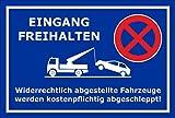 Melis Folienwerkstatt Schild - Eingang freihalten- 30x20cm | 3mm Aluverbund – S00020-J-E -20 Varianten