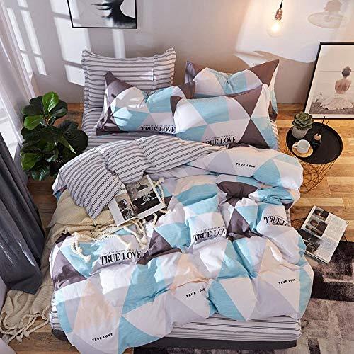 CPDZ Bettlaken und Kissenbezug Bettbezug Königin Männer und Frauen Schlafzimmer Dekor Bettwäsche Emporium 100% Baumwolle Blatt Set 4 stücke,Green,XL (Bettwäsche-daunendecke-abdeckung)