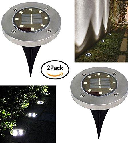 Pack de 2 focos solares empotrables en el suelo marca Ruier-hui