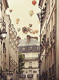Flying Over Paris Kunstdruck Irene Suchocki - Kunstdruck (46cm x 60cm)