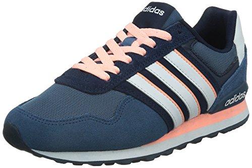 adidas10k - Scarpe da Ginnastica Basse Donna , Blu (Blau (Ash Blue S15-St/Ftwr White/Light Flash Orange S15)), 41 1/3 EU