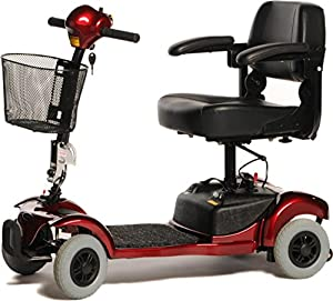 Freerider Mini Ranger Class 2 4 Wheel Portable Mobility Scooter - Red
