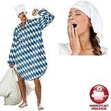 PARTY DISCOUNT Kostüm-Komplett-Set Bayrisches Nachthemd Gr. XL