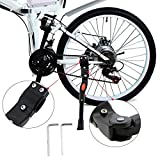 Best Bicycle Kickstands - WisFox Bike Kickstand Aluminum alloy Adjustable Bicycle Side Review