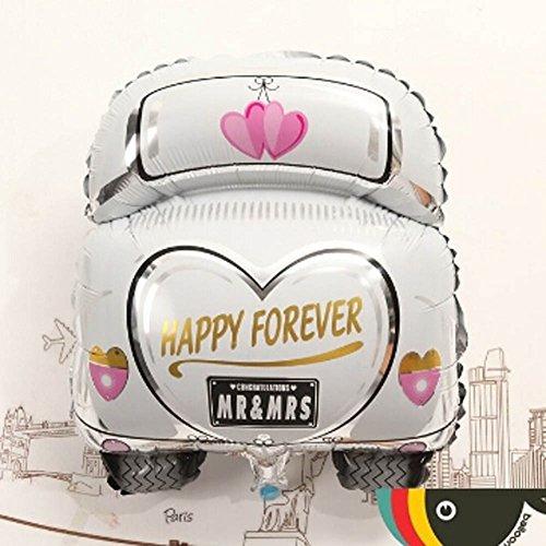 Yimosecoxiang Folienballon für Hochzeit, Auto, Herzmuster, für Baby, Geburtstag, Party, Heimdekoration 1#