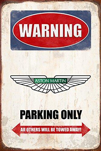 Warning Aston Martin Parking only park schild tin sign schild aus blech garage