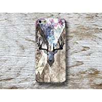 Hirsch Holz Print Hülle Handyhülle für iPhone X XR XS MAX 4 4s 5 5se se 5C 5S 6 6s 7 Plus iPhone 8 Plus iPod 5 6