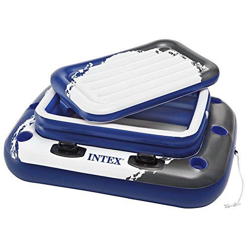 Intex 58821 - Mini Frigo Galleggiante, 122 x 97 cm, Bianco/Blu/Nero