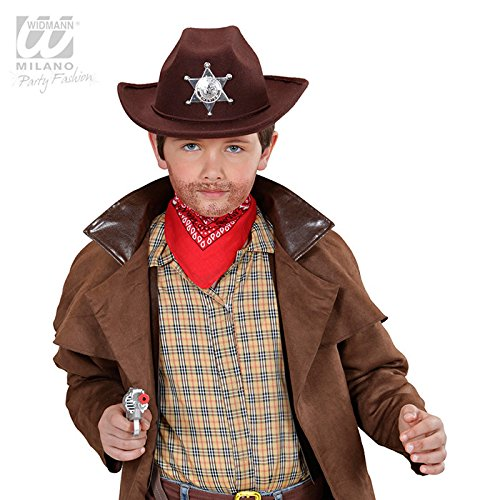 Real Look Cowboy Hat with Sheriff Star Child Size Hat Headware Accessory for Wild West Cowboys and Indians Fancy Dress Up Costumes and ()