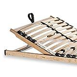 Betten ABC Lattenrost Max KV zur Selbstmontage / Lattenrahmen in 140 x 200 cm mit verstellbarem Kopfteil und 28 flexiblen Federholzleisten - geeignet für alle Matratzen Vergleich