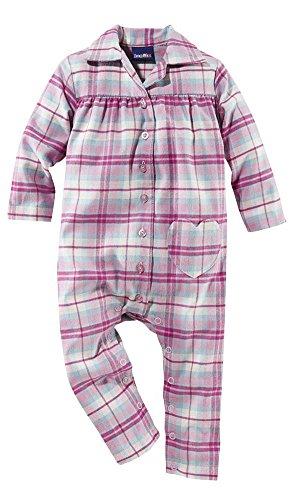 lupilu® kuschliger Baby Flanell-Schlafanzug, 100% Baumwolle