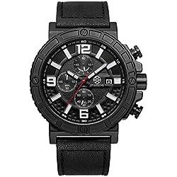 STARKING Men's TM0902BL21 Chronograph Quartz Sports Military Black Watch