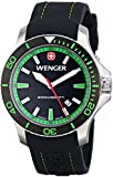 Wenger Seaforce Men's Quartz Watch with Black Dial Analogue Display and Black Silicone Strap 010641108