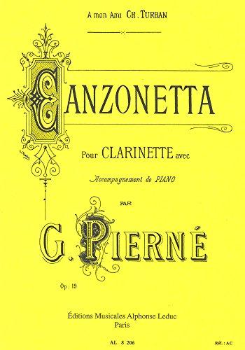CANZONETTA OP19 CLARINETTE ET PIANO