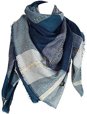 Glamexx24 XXL Schal Kuschelige, warme und wunderschöne Damen Poncho Schal mit verschiedenen Muster Schal Poncho...