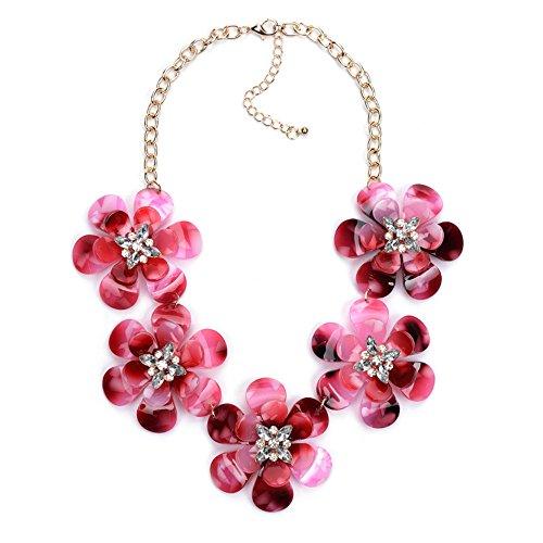 Classic quality Halskette die Schwachstellen und StyleThe Neue Elegante und einfache Panel Blumen Multi-Layer Bohren Übertreibung einfügen - Blume-panel