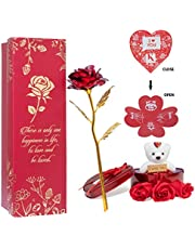 Next Bazaar Heart Shape Box with Teddy,3 Pcs Artificial Rose Floral Scented Bath Soap Rose Flower Petals with Artifical red & Gold Rose Combo Pack