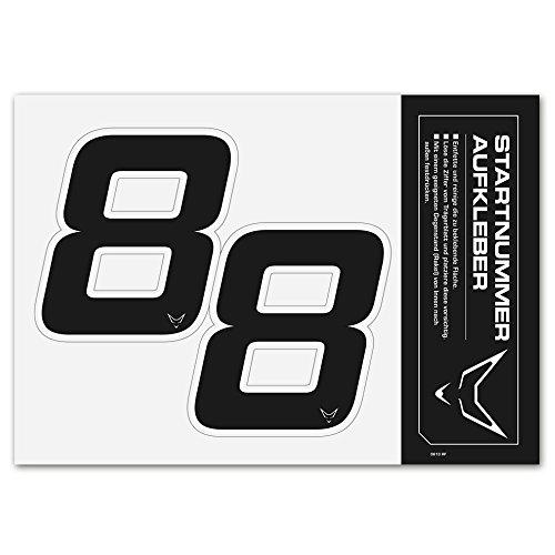 rtnummer Aufkleber 2er Set # 8 RACEFOXX ()