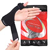 Thumb Splint Support / Brace for Tenosynovitis, Arthritis, RSI, Trigger Thumb, Carpal Tunnel Syndrome / right hand and left hand use REVERSIBLE / men and women / reliable stabiliser to ease discomfort and aid in natural recovery - Latex-Free PYKES PEAK