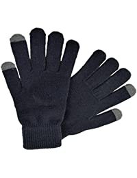 OCTAVE® Mens Black Touch Screen Gloves - Ideal For ALL Touch Screen Devices