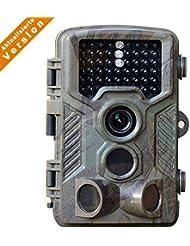 [Aktualisierte Version]16MP Wildkamera 1080P Full HD Low Glow Infrarot schwarzlicht Jagdkamera Jagdzeug für Nacht Vision wildlife kamera fotofalle nachtsicht ,2.4 Zoll LCD Wasserdicht IP56 Flinelife
