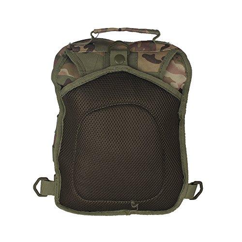 innturt Tactical MOLLE Sling Bag Schulter Messenger Rucksack Multifunktions-Trekking Camping Tasche - Beige