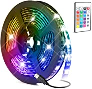 LED Light Strip,Baytion 16 Color Changing Waterproof Strip Lights with Remote Control, for TV/Bedroom/Home Dec