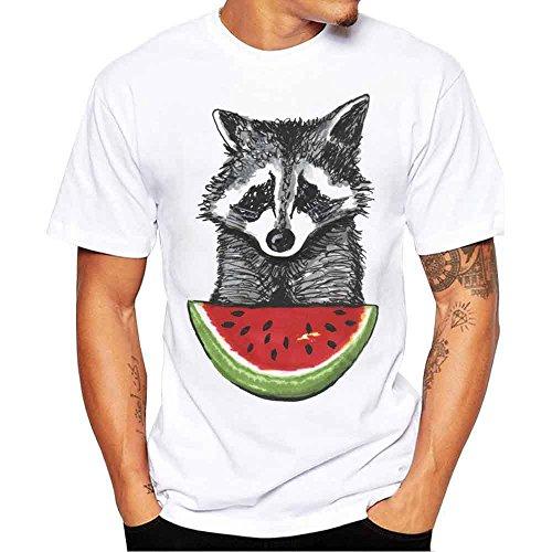 b1cde6d6e8c7c4 VECDY Herren T Shirts Mode Tops Plus Size Kurzarm Einfaches Pullover Brief  Drucken Oberteile Slim Fit Shirt S-4XL*