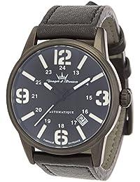 Yonger & Bresson YBH 8351-33 - Reloj de pulsera hombre, piel, color negro