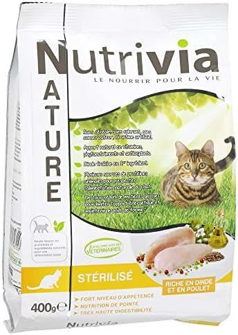 Nutrivia Nature : Croquette Chat Stérilisé : Dinde,poulet 400g