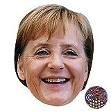 Angela Merkel (Smiling) Maske aus Pappe