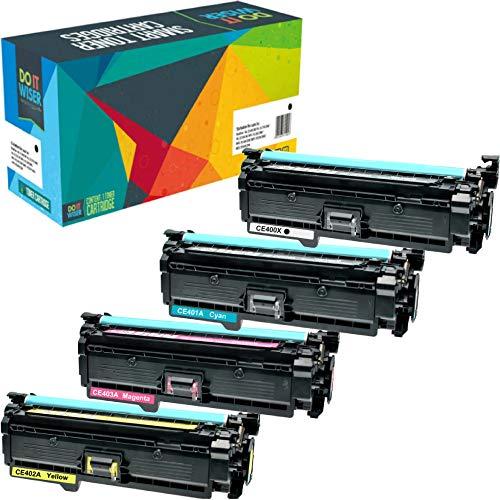 Do it Wiser 4 Kompatibel Toner HP507A CE400X CE401A CE402A CE403A für HP 500 Color M551 M551n M551dn M551xh MFP M570 M570dn M570dw M575 M575c M575f M575dn - Color Laserjet M551n-drucker Hp