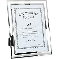 Giftgarden Cadre Photo A4 en Verre Transparent 21x29.7 CM Grand Cadre pour Documents