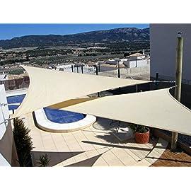Triangolare /Vela dombra per Giardino 3,6/x 3,6/x 3,6/m PAPILLON 8091180/ Colore: Beige