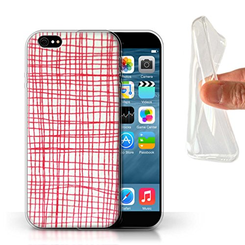 Stuff4 Gel TPU Hülle / Case für Apple iPhone X/10 / Haushaltswaren/Briefe Muster / Heimtextilien Kollektion Linie Stiche