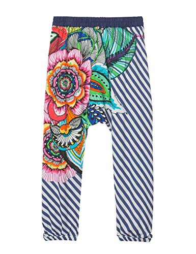 Desigual Mädchen Hose Girl Woven Turkish Trousers (Pant_Dusky), Blau (Navy 5000) 104 (Herstellergröße: 3/4) -